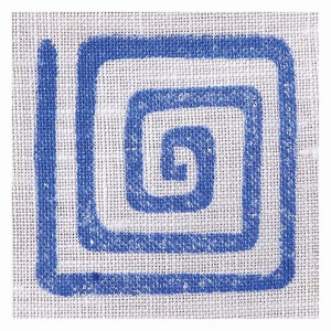 Fabric Creations™ Stempel, Small Square Spiral, ca. 3,8 x 3,8 cm